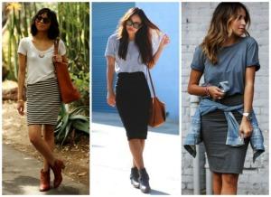 look-casual-usando-saia-lapis